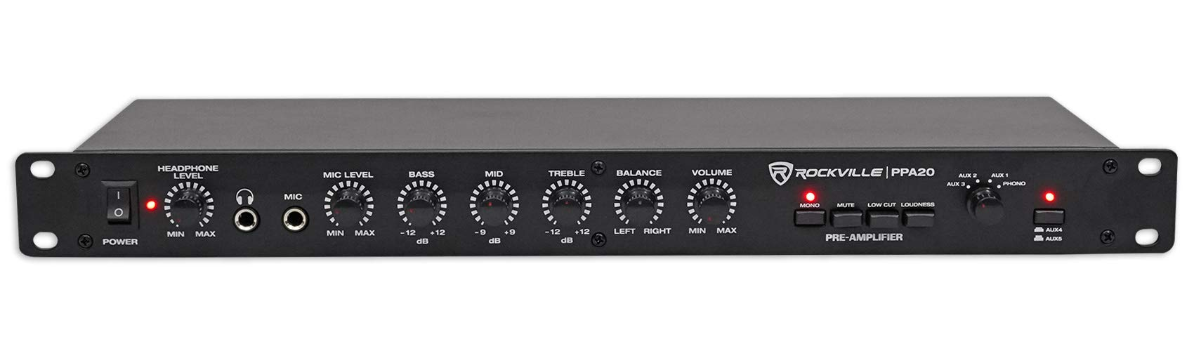 Rockville PPA20 Professional Pre Amplifier Crossover