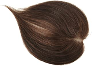 Remeehi 79Cm Free Part Straight Human Hair Toppers For Thinning Hair Clip In Hand Made Tied Hair Piece Light Brown