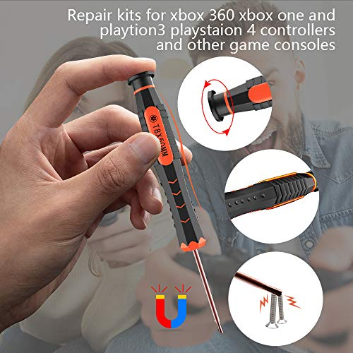 T8 Torx Security Screwdriver, XBRdepot TR8 Torx Screwdriver T8H for Xbox one Xbox 360 PS3 PS4 PSVita,Wired and Wireless Controllers Macbook,HDD,Repair (Torx TR8)