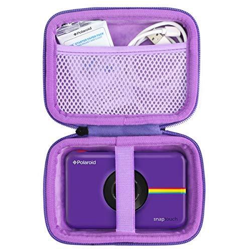 Khanka Hart Tasche für Polaroid SNAP Touch 2.0 & Schnappschuss & Snap Digitale Instant Kamera Sofortdruck Digitalkamera Sofortbildkamera Case(lila Reißverschluss)
