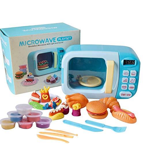 Mikrowelle Spielzeug Geschirr Ofen Pädagogisches Batteriebetriebenes Spielset Mit Lichtern Sounds Spielset Kinder Küche Elektronische Pretend Play Spielzeug Set Für Kleinkinder Jungen Mädchen