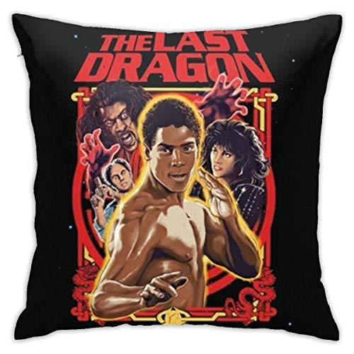 The Last Dragon Martial Arts Retro 80's Action Movie - Funda de almohada hipoalergénica, 45,7 x 45,7 cm