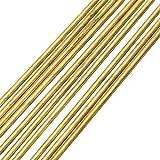 10 unids 1.6x250 mm Barra redonda de latón Modelo de tubo de alambre redondo,...