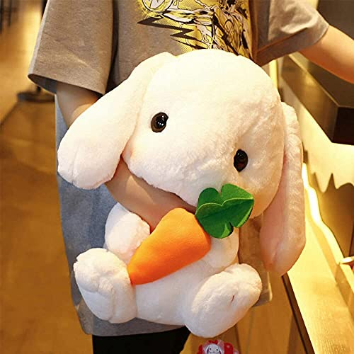 XINQ 22-32cm Süße gefüllte Kaninchen Plüschtiere Bunny Kids Kissen Puppe Kreative Geburtstagsgeschenke Für Kinder Baby Begleiten Schlaf Spielzeug 32cmgrad (Color : 32cmwhite)