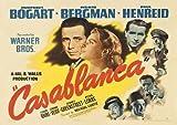 Casablanca Bogart, Vintage Filmposter, A4, Nachdruck, 260