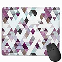 """Modern Watercolor Purple Gray Triangle Pattern Mouse Pad Non-Slip Rubber Gaming Mouse Pad Rectangle Mouse Pads for Computers Desktops Laptop 9.8"""" x 11.8"""""""