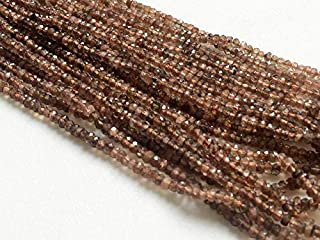 13 inch Strand Natural Andalusite 3.5 mm rondelle Faceted Beads for Jewelry - Andalusite Faceted rondelle Beads, Natural Faceted Reddish Brown Andalusite Beads, AAA gems, 3.5mm, 13 inch