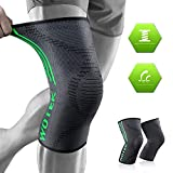 Knee Supports, 2 Pack Knee Brace Breathable Knee Sleeve for Men and Women