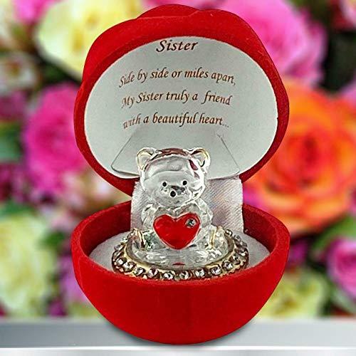 Saffri Dankesgeschenk Teddybär, rote Rose, für Mutter GF BF Best Friend Lehrer Ehefrau Ehemann Bruder Schwester Special Someone Geschenk