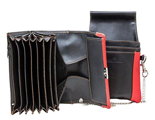 Halal-Wear Rote Kellnerportemonnaie mit Tasche in Rot Kellnertasche Kellnerbörse Kellnergeldbeutel Kellnergeldbörse Bedienungsgeldbeutel Kellnerhalfter (Rot)