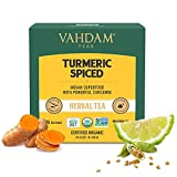 """MAGIC BLEND - A blissful blend infused with the goodness of the """"magic herb"""" turmeric, cinnamon, black pepper, clove making it a healing, rejuvenating & energizing herbal tea. 15 FULL-LEAF PYRAMID TEA BAGS - Gone are the days of paper tea bags that t..."""