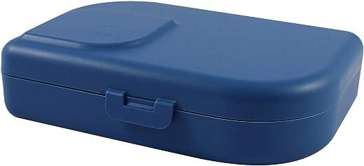 ajaa! Bio Brotdose – Lunch-Box aus nachwachsenden Rohstoffen ohne Melamin, ohne Weichmacher wie BPA, plastikfrei (Blue)
