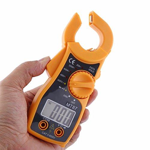 デジタルクランプメーター 電流測定器 AC/DC両用 デジタルマルチメーター 非接触で電流計測 電流計 電圧計 抵抗/導通チェック機能 テストリード付 マルチ計測器 FMTMT8720A