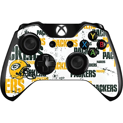 Skinit Decal Gaming Skin Compatible with Xbox One Controller - Officially Licensed NFL Green Bay Packers - Blast Design