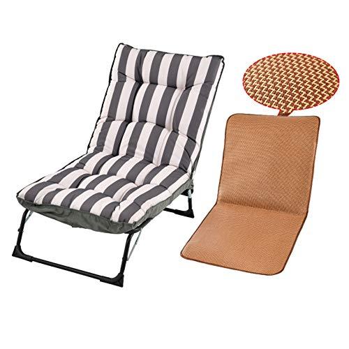 LINGZE Tumbona, Patio de jardín portátil con Silla de relajación reclinable de cojín Acolchado Grueso