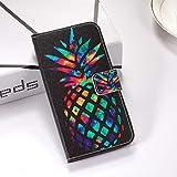 RUNNA Coloré Ananas Motif Coloré Dessin Horizontal Flip Cuir Case pour Huawei Nova 4, avec...