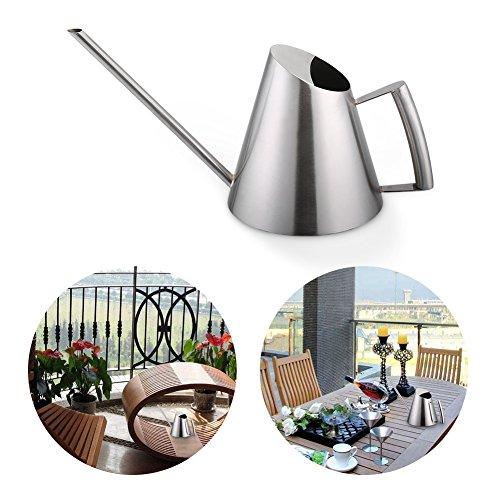 Cafopgrill 400 ml mini moderne stijl roestvrij staal gieter lange uitloop irrigatie pot geborsteld zilver pot tuin plantgereedschap voor binnenwerk en binnen
