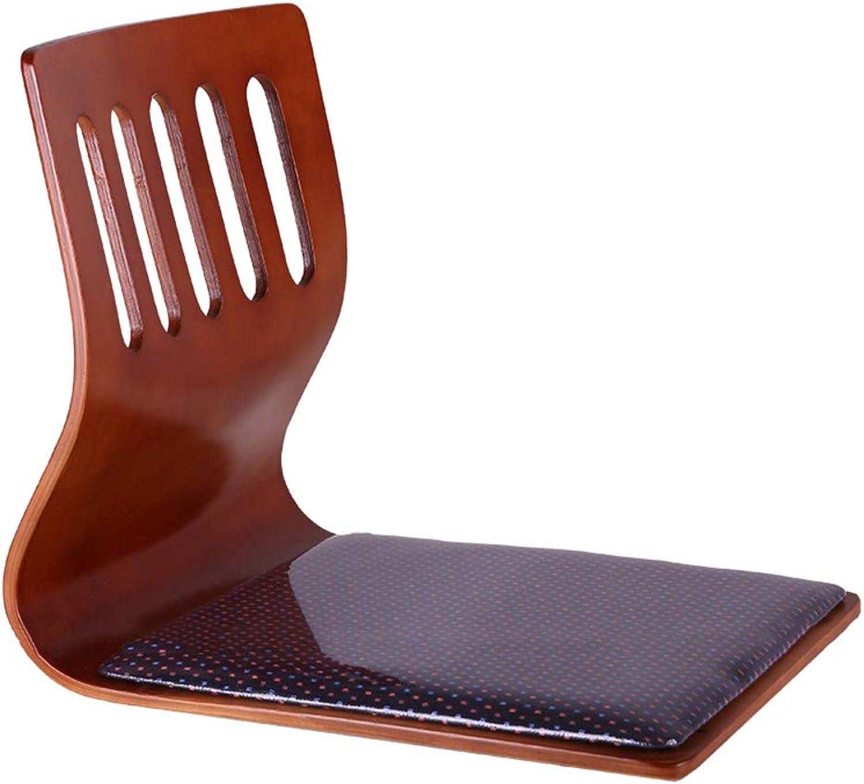 Zaisu Japanese Wood Floor Chair Foldable Floor Seating-B