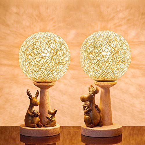 KGDC Bedside Nightstand Lamp Creative Sepak Takraw Table Lamp Set Of 2 Night Light Decoration Birthday New Wedding Gifts New Home Gift Bedroom Bedside Lamp 【Dimming】 Modern Lamp