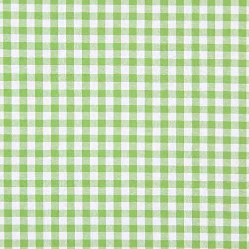 Baumwollstoff Vichy 1 cm – apfelgrün — Meterware ab 0,5m — STANDARD 100 by OEKO-TEX® Produktklasse I — zum Nähen von Kissen/Tagesdecken, Tischdekoration & Freizeitkleidung