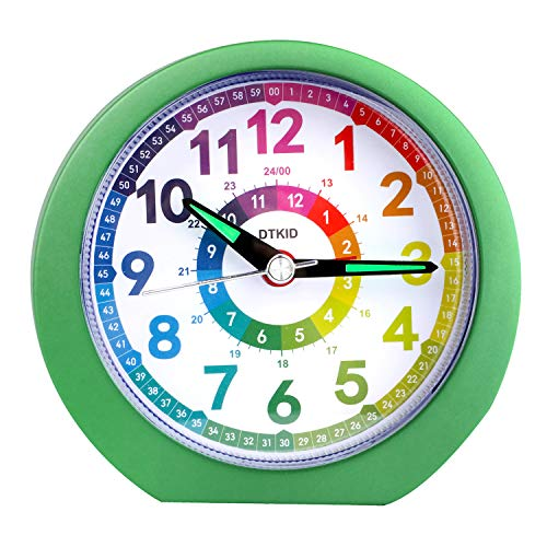 Reloj Despertador analógico para niños, niñas, mesita de Noche, Relojes de Mesa con Pilas sin...