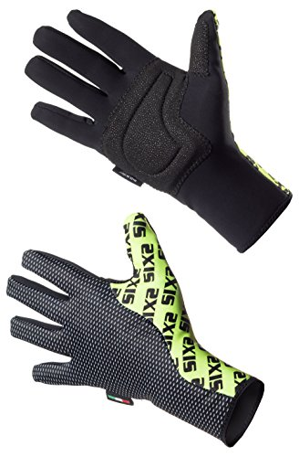 SIX2 Black Carbon/Yellow Fluo-M, Guanto Invernale M Unisex Adulto, M