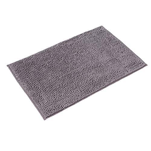 PANA Chenille Badematte in versch. Farben und Größen | Badteppich aus weichen Fasern - rutschfest & waschbar | Duschvorleger 50 x 80 cm