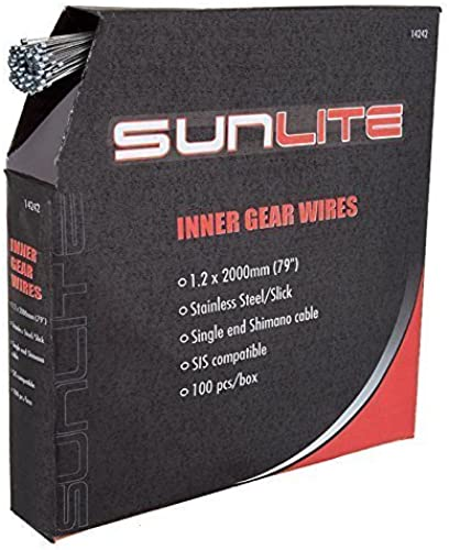 CABLE GEAR SUNLT 1.2x2000 SS SLK SIS BXof100 by SunLite