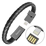 Auzev USB Armband USB Armband Datenleitung Handy Ladekabel Armband Ladeband Kabel Mode doppelt...
