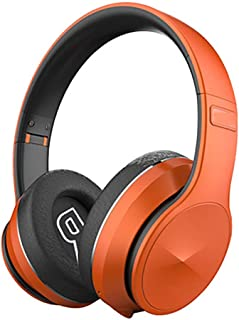 Bluetooth Headphones,10 Hrs Comfortable Wireless Headphones Rechargeable Hifi Stereo Headset,Suitable for Home/Travel/Sports/Office,Orange