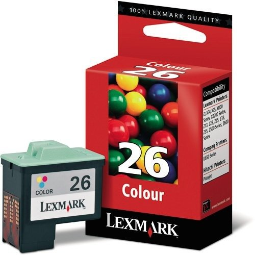 Lexmark nº 26,Color Print Cartridge, cartuchos de tinta (cian, magenta, amarillo, i3, X1100, X2200Series, X74, X75, Z13, Z23, Z25, Z33, Z35, Z500, Z600Series, inyección de tinta)