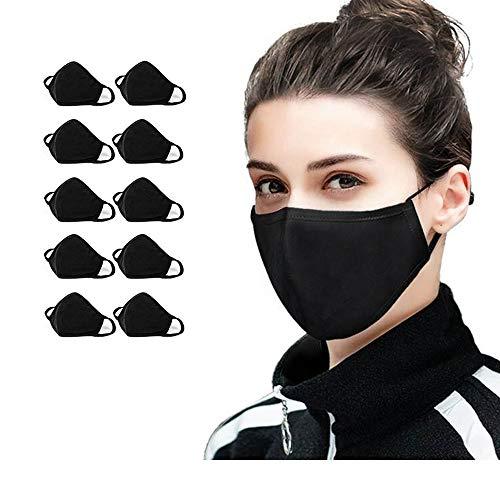 10 PCS Cotton Face Masks Bandana Balaclavas, 2-Layer Unisex Reusable...