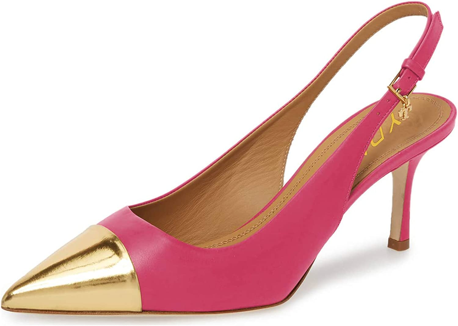 YDN Women Classy Pointed Toe Thin High Heel Slingback Office Lady Dress Pumps shoes