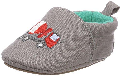Sterntaler Baby Crawling Shoes, Zapatillas de Estar por casa, Gris (Stone Grey 583), 19/20 EU
