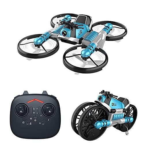 FMHCTN Mini Drone para niños, Drone deformable, RC Quadcopter UFO con 2.4G 4CH 6 Axis, Motocicleta transformada, Modo sin Cabeza, Vuelo con Retorno de una tecla, Adecuado como Regalo para niños
