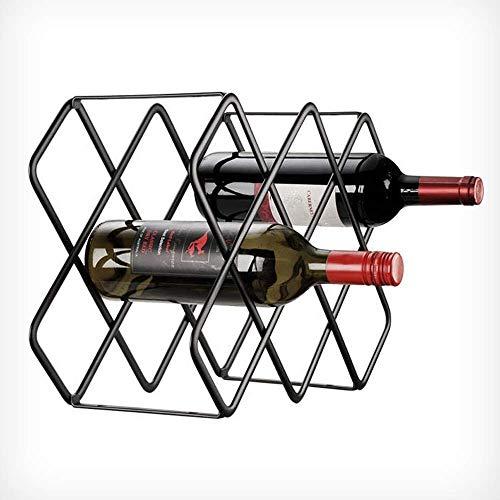 ZYYH Estante para Vino para 5/8 Botellas de Metal de pie - Soporte portátil para Vino de Acero Inoxidable Decoración Moderna para la Cocina del hogar Estante para Vino Diseño Minimalista para reg