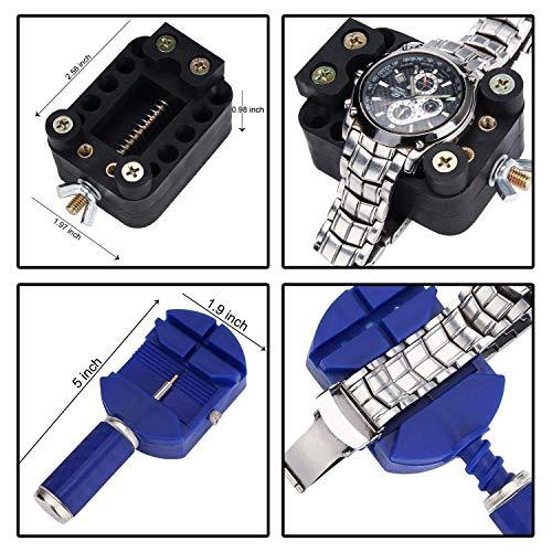 Sopoby Uhrenwerkzeug Set 147tlg Uhrmacherwerkzeug Uhr Werkzeug Tasche Reparatur Set Uhrwerkzeug Gehäuse Öffner in Nylontasche watch tool - 4