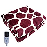 Electric Blanket Heated Flannel Blanket with Auto-Off Timer Settings, Lightweight Cozy Soft Throw Flannel Winter Blanket for Whole Body Warming, Fast Heating for Office Bedroom (4545cm)
