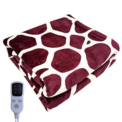 A/B Elektrische Wärme Flanell Heizdecke,Heizdecke mit Abschaltautomatik 38-60°C Temperaturstufen,waschbar Elektrische Wärmedecke fürs Bett Heimgebrauch Sofa Büronutzung benutzen (45x45CM)