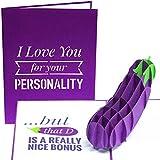 PopLife Naughty Eggplant 3D Valentine's Day Pop Up Card - 'I Love You...