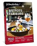 Wonderbox - Coffret Cadeau couple - BISTROTS ET SAVEURS - idée cadeau de noël - 1100 repas en brasseries de caractère