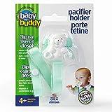 Buddy(ベビーバディ) Baby Buddy(ベビーバディ) Baby Buddy ベビー バディ Bear Pacifier Holder ホワイトベア マルチ クリップ(シングル) Mint ミント