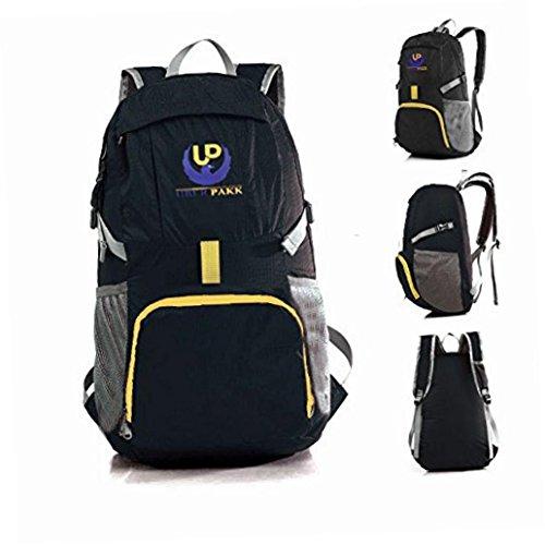 UBERPAKK Lightweight Foldable Packable Backpacks for Men, Women & Kids. Large, Water Resistant, Great Daypack 4 Hiking, Traveling, Gym & More. Free Travel Towel.