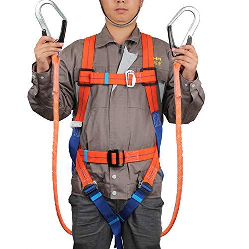 CompuClever フルハーネス 安全帯 ツインランヤード 墜落制止用器具 [落下防止 電気工事 高所安全作業用]