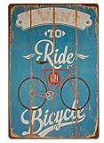 hioni I Want To Ride My Bicycle, pancarta de metal Panel Placa Póster metálico Slogan Art Décor Vintage Pr Bar café Pub