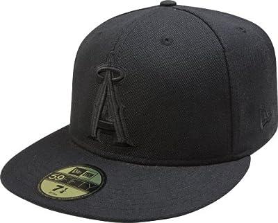 New Era MLB Anaheim Angels Black on Black 59FIFTY Fitted Cap