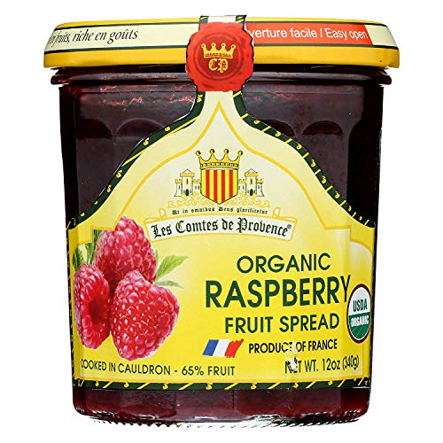 Raspberry Spread USDA Organic Preserve – 12 oz/ 340 gr – Made in France Traditional Jam Non GMO Gluten Free