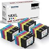 SMARTOMI 18XL Cartucho de Tinta Compatible con Epson 20 Multipack 18XL para Epson Expression Home XP-322 XP-215 XP-205 XP-225 XP-305 XP-325 XP-422 XP-405 XP-415 XP-425 XP-315 XP-312 XP-425 Series