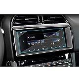 HANXIAOLONGA Protector de Pantalla de Coche Auto Car Multimedia Navegación GPS Película GPS Protector de película de Vidrio Templado Etiqueta, Compatible Jaguar F-Pace/XE/XFL/E-Pace/F-Type