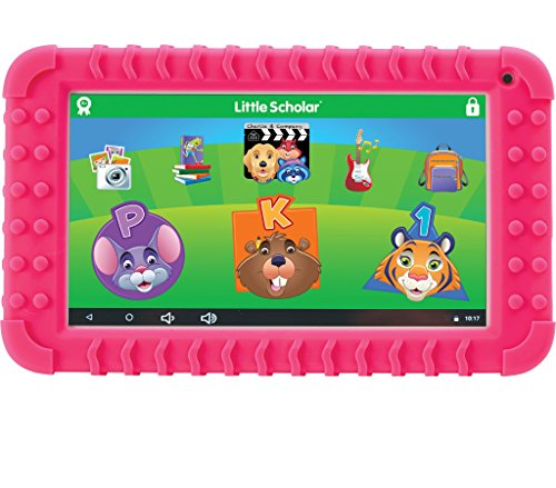 School Zone - Little Scholar Kids Learning Tablet - Ages 3 to 7, Preschool, Kindergarten, 1st Grade, 7' Display, 70+ Preloaded Educational Apps, Screen Protector, Silicone Bumper, 16 GB, Wifi, Camera
